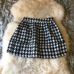 Patterned winter high waisted circle skirt